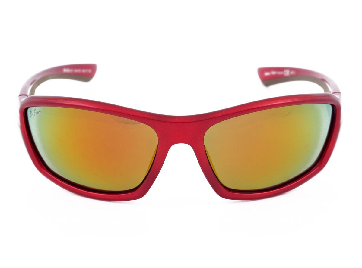 f76f04823db B Force Sports RED Polarised Sunglasses for Cycling Mirrored Fire Iridium  Lenses